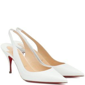 NEW:CHRISTIAN LOUBOUTIN CLARE SLINGBACK WHITE 38/8